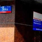 Zdjęcie - tabliczka adresowa nabudynku PFRON-u - ul.Sliska